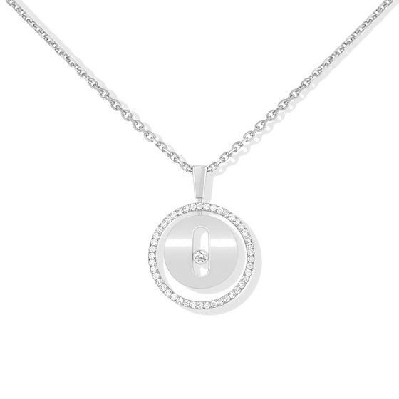 Necklace Diamond White Gold Lucky Move PM