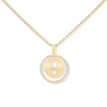 Necklace Diamond Yellow Gold Lucky Move PM