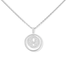 Necklace Diamond White Gold Lucky Move PM Pavé