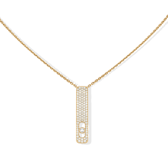Necklace Diamond Yellow Gold My First Diamond Pavé