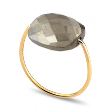 Bague Or Jaune Pyrite Coussin
