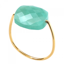 Amazonite Cushion Yellow Gold Ring