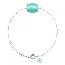 Amazonite Cushion White Gold Bracelet