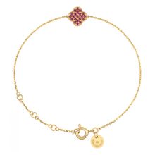 Ruby Clover Yellow Gold Bracelet