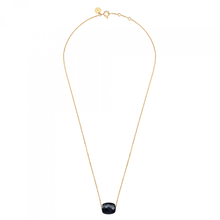 Onyx Cushion Yellow Gold Necklace