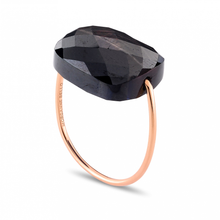 Ring Rose Gold Cussin Oversize Moonstone Hiperstein