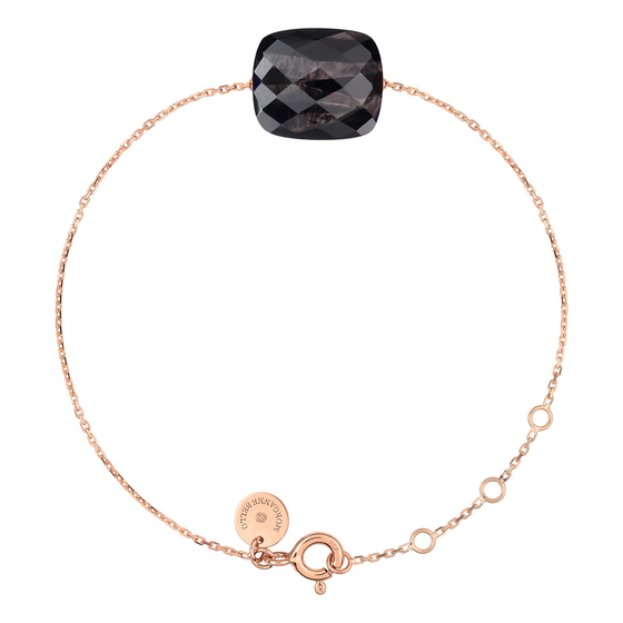 Bracelet Rose Gold Cushion Oversize Moonstone Hiperstein
