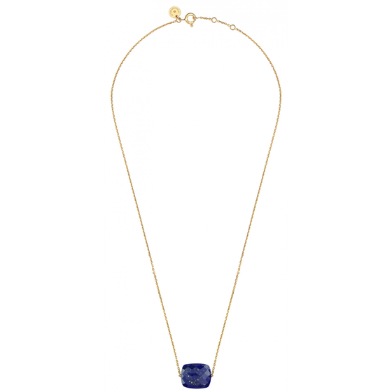 Necklace Yellow Gold And Lapis Lazuli