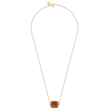 Necklace Yellow Gold 18 Carats And Multifaceted Sunstone