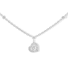 Necklace Diamond White Gold Joy Cœur 0.15-carat Diamond Necklace