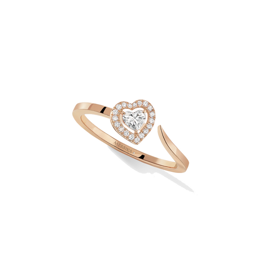 Ring Diamond Pink Gold Joy Coeur 0.15-carat Diamond Ring