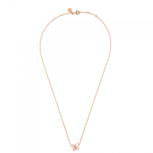 Pink Mother Of Pearl Rose Gold Necklace