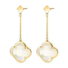 Earrings Victoria White Mother Of Pearl And Yellow Gold 750