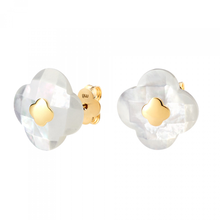Studs Yellow Gold Mother Of Pearl