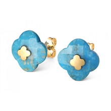 Studs Yellow Gold Turquoise