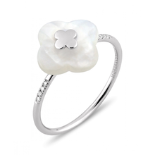 Ring White Gold Little White Mother Of Pearl