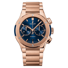 Blue Chronograph King Gold Bracelet