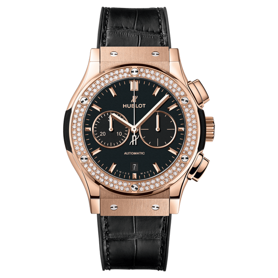 Chronograph King Gold Diamonds