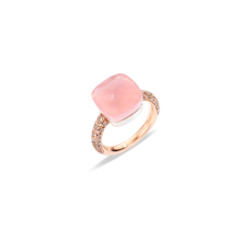 Rose Quartz Nudo Maxi Ring
