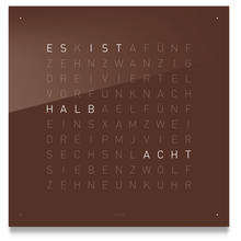 Qlocktwo Classic Dark Chocolate - SWISS GERMAN