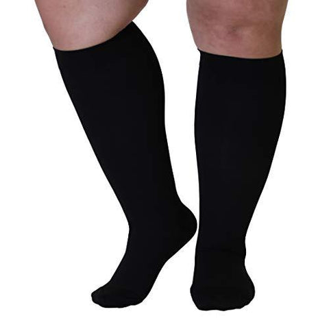 Opaque Compression Socks 20-30mmHg - Knee-Hi Closed Toe - Knee Shop.com