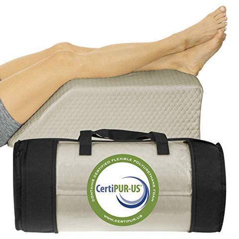 Xtra-Comfort Leg Elevation Pillow - Wedge Elevator Support Cushion