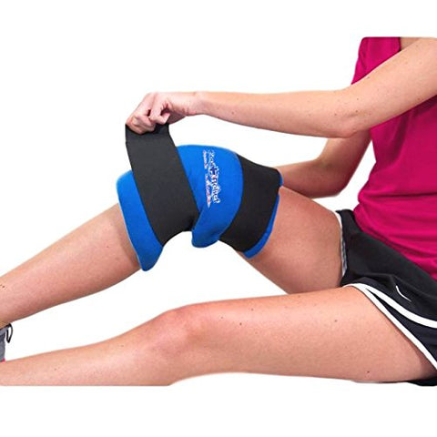 Cool Relief Reusable Soft Gel Hot and Cold Knee Wrap