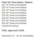 Hely Weber Knee Immobilizer #205