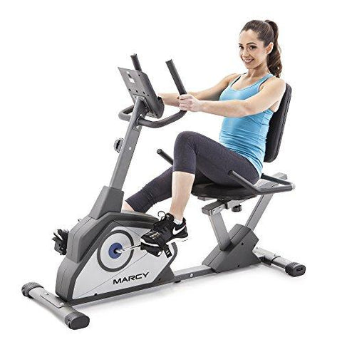 Marcy Magnetic Recumbent Exercise Bike - Knee Shop.com