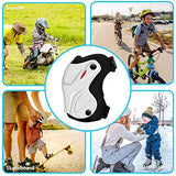 NIKOEO Knee Pads and Elbow Pads for Kids 4-10