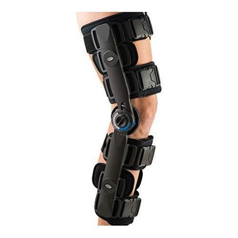 FitPro Adjustable Range of Motion Post-Op Knee Stabilizer Brace