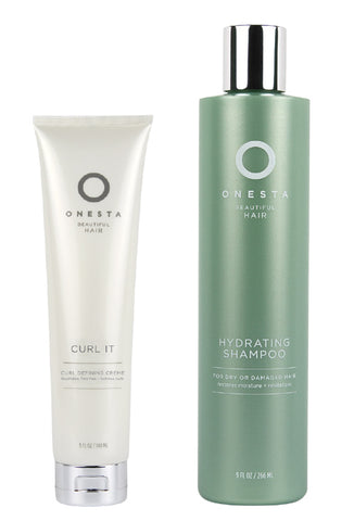Onesta 1 Curl It Defining Creme 5oz, Receive Free:1 Hydrating Shampoo  9 oz ( January Offer )
