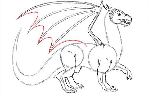 Dessin dragon ailes