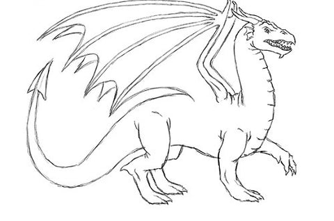 Dessin dragon finitions