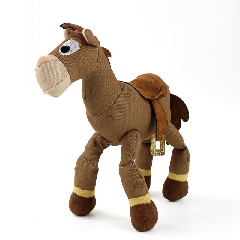 Cheval en peluche marron