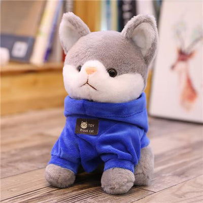 univers-peluche 20cm / Bleu Peluche chat à sweat chat fier