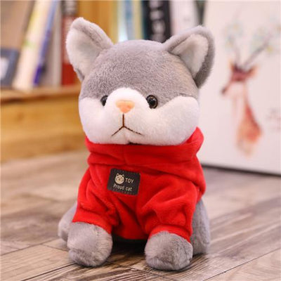univers-peluche 20cm / Rouge Peluche chat à sweat chat fier