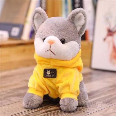univers-peluche 24cm / Jaune Peluche chat à sweat chat fier
