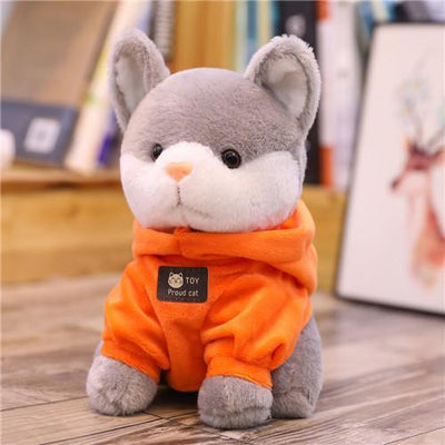 univers-peluche 24cm / Orange Peluche chat à sweat chat fier