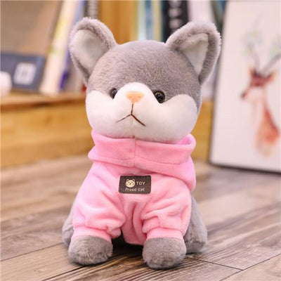 univers-peluche 24cm / Rose Peluche chat à sweat chat fier