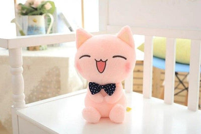univers-peluche 28cm / Rose Peluche chat rose