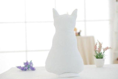 univers-peluche 45cm / Blanc Peluche chat style ombre chinoise