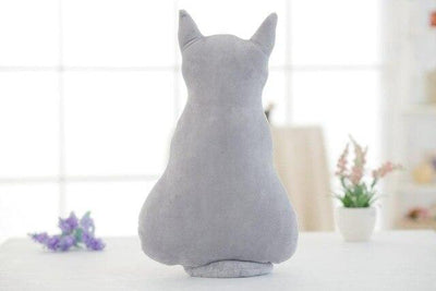 univers-peluche 45cm / Gris Peluche chat style ombre chinoise