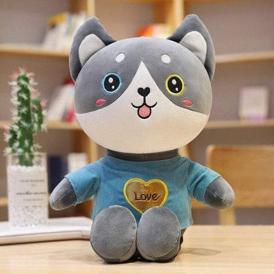 univers-peluche 50cm / Bleu Peluche chat t-shirt love