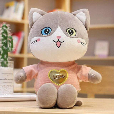 univers-peluche 50cm / Orange Peluche chat t-shirt love