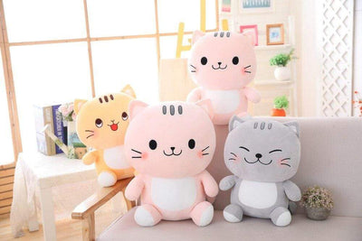univers-peluche Peluche chat gris family
