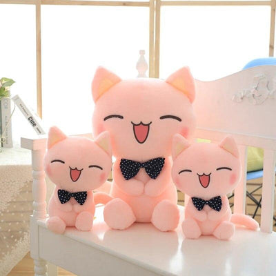 univers-peluche Peluche chat rose