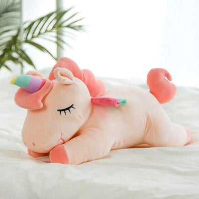 univers-peluche Rose Peluche licorne Sleepy