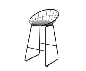 Kenny Bar Stools - Black Powder Coated - Set Of Two [Currently OUT of  Stock]