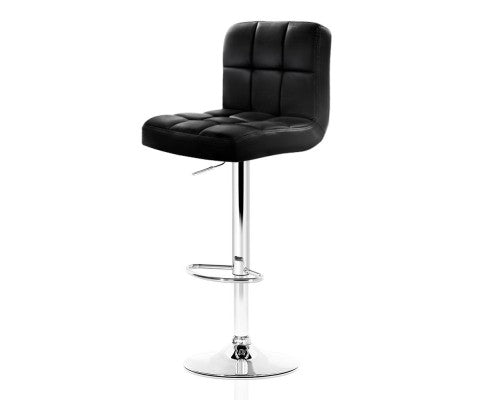 James Bar Stools - Black & Chrome - Set Of Two